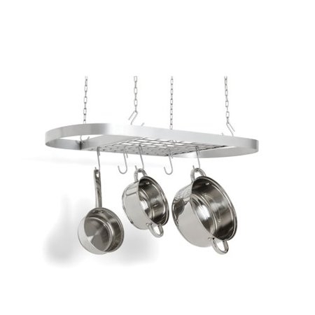 Fox Run Brands Stainless Steel Oval Hanging Pot Rack