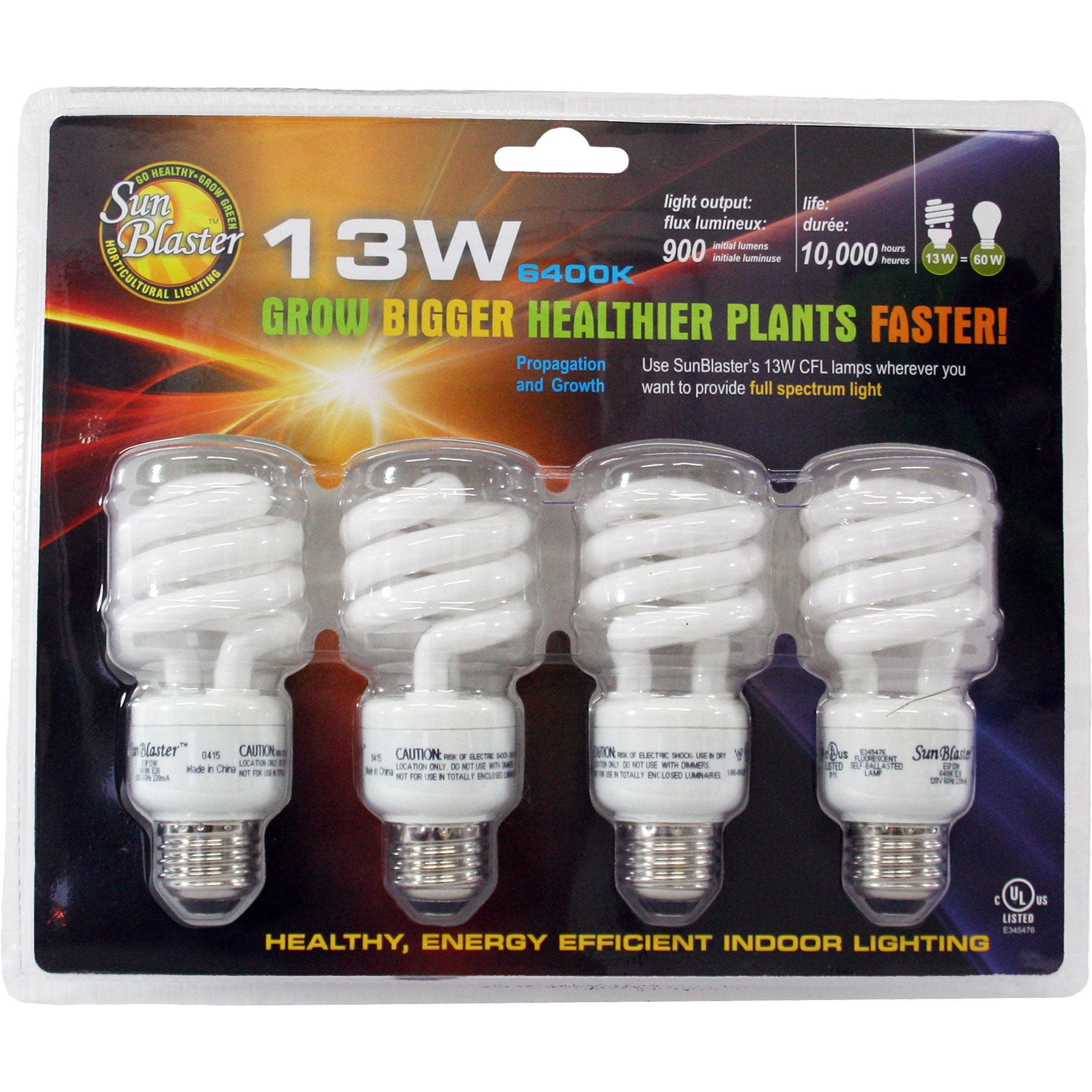 Sunblaster 13 Watt Cfl Indoor Plant Grow Lamp Natural