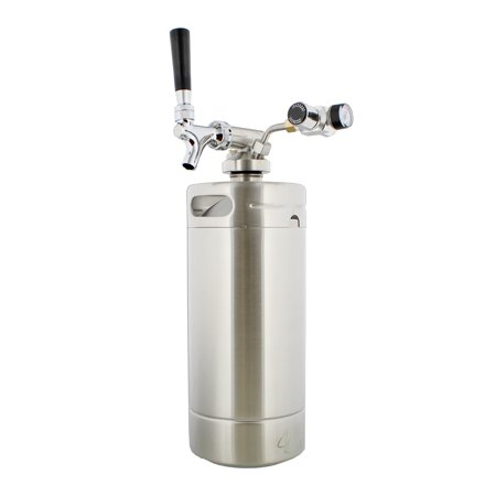 Mini Keg with Regulator and Dispenser – Portable Keg Draft Beer (Direct Draw Draft Beer Dispenser)