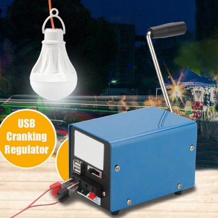 Multi-function Portable Hand Crank Emergency USB Charger Generator SOS Travel - image 2 de 10