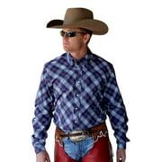 Cinch Western Shirt Mens Long Sleeve Plaid Modern Purple MTW1343005