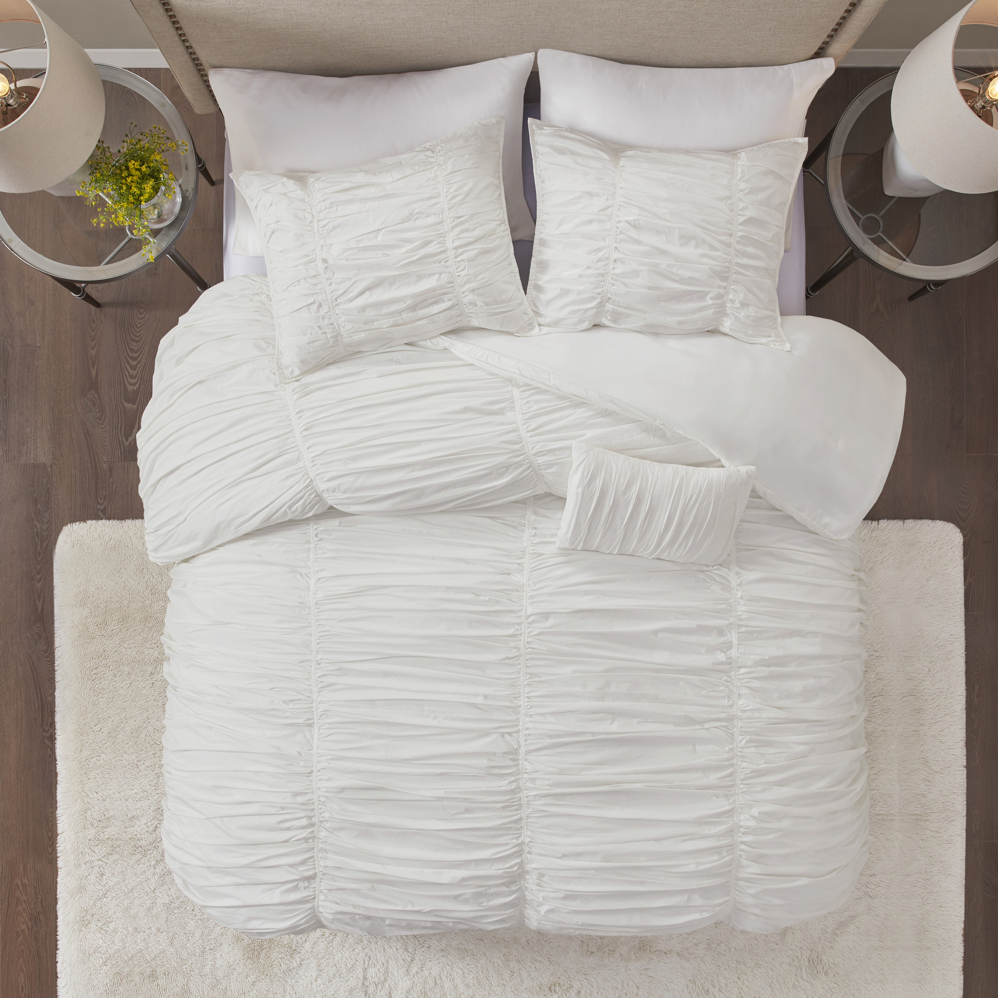 Home Essence Pacifica 4 Piece Comforter Set Walmart Com Walmart Com