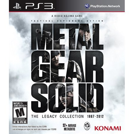 Metal Gear Solid Legacy Collection - Playstation 3, By Konami From (Legato Metal)