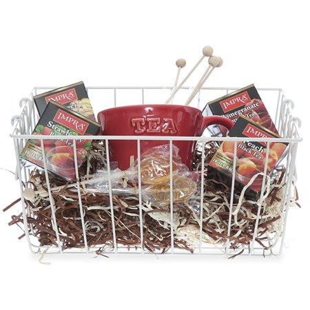 Stella Rect Wire Basket with Swing Handle - Medium 12in