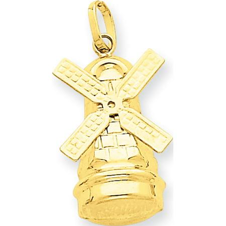 Leslies Fine Jewelry Designer 14k Yellow Gold Windmill (12x23mm) Pendant Gift