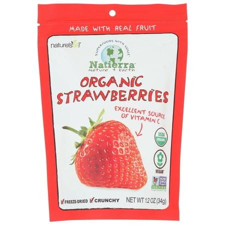 Natierra, Strawberries, Freeze Dried, 1.2 oz