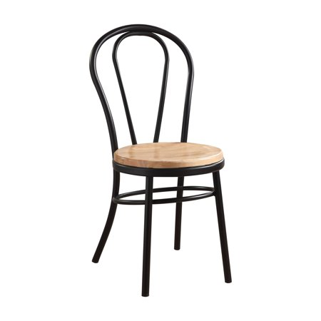 ACME Carys Side Chair in Black and Natural, Set of 2
