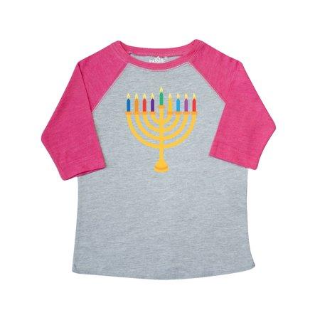 Hanukkah Menorah Candles Toddler T-Shirt