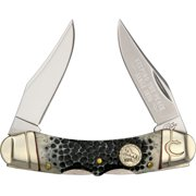 Colt Knives 498 Folder Knife with Black Smooth Bone Handles Multi-Colored