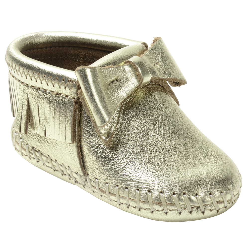 Minnetonka Boys Rosie Silver Infant Bootie by MINNETONKA