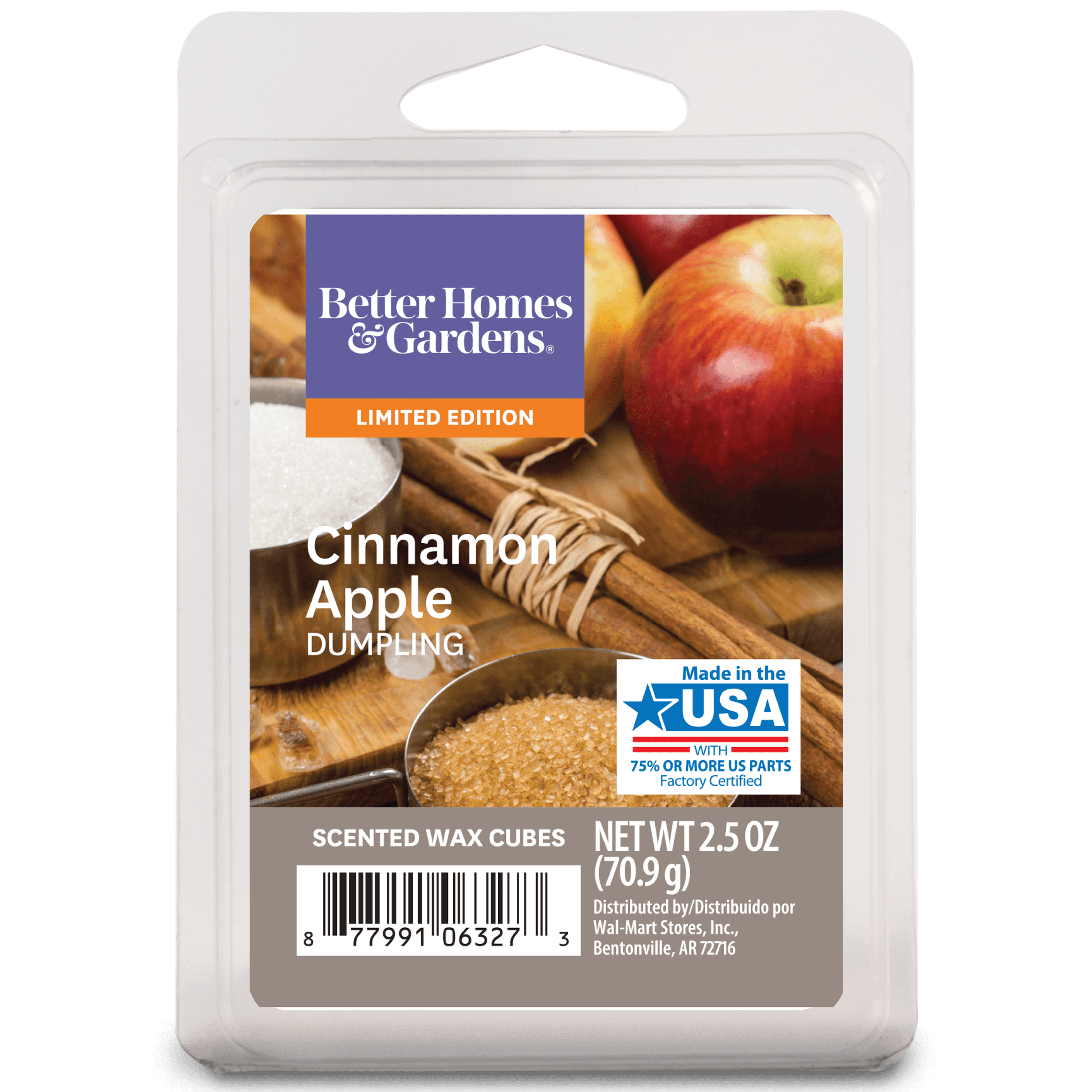 Better Homes Gardens 2 5 Oz Cinnamon Apple Dumpling Scented Wax Melts