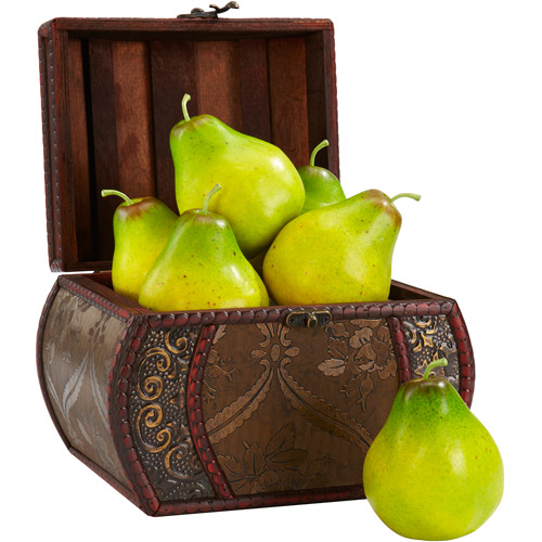Nearly Natural 6pk Faux Pear