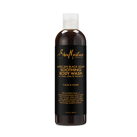 - African Black Soap Body Wash - Moisturizes and Soothes Dry, Sensitive Skin - Sulfate-Free with Natural and Organic Ingredients - Cleanses Pores and Hydrates for Smooth Skin (13 oz)