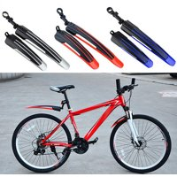 2 Pcs Bicycle Cycling Front and Rear Mud Mountain Bike Tire Fenders Guards Mud Set Red
