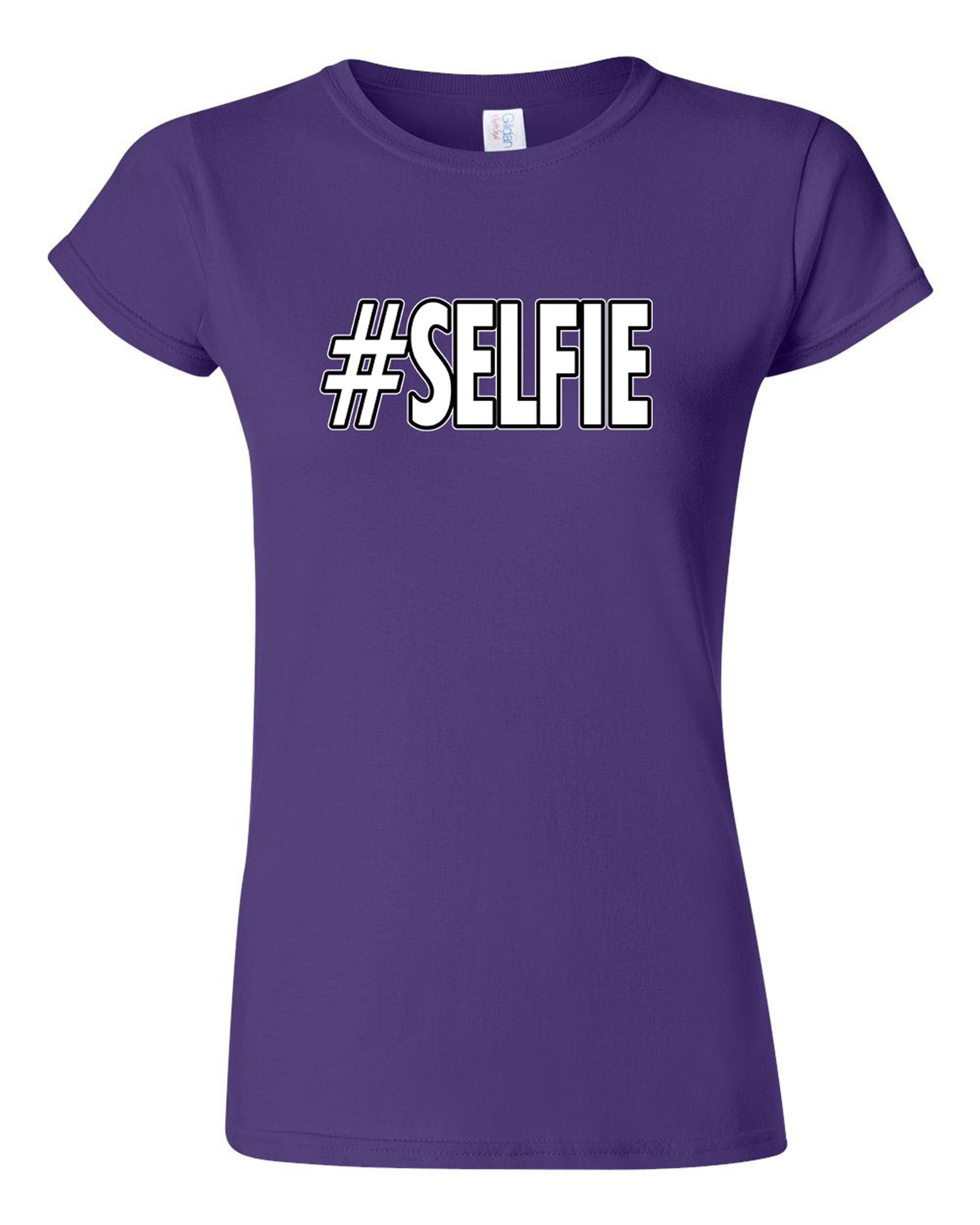 Junior Selfie Hashtag Funny Humor DT T-Shirt Tee