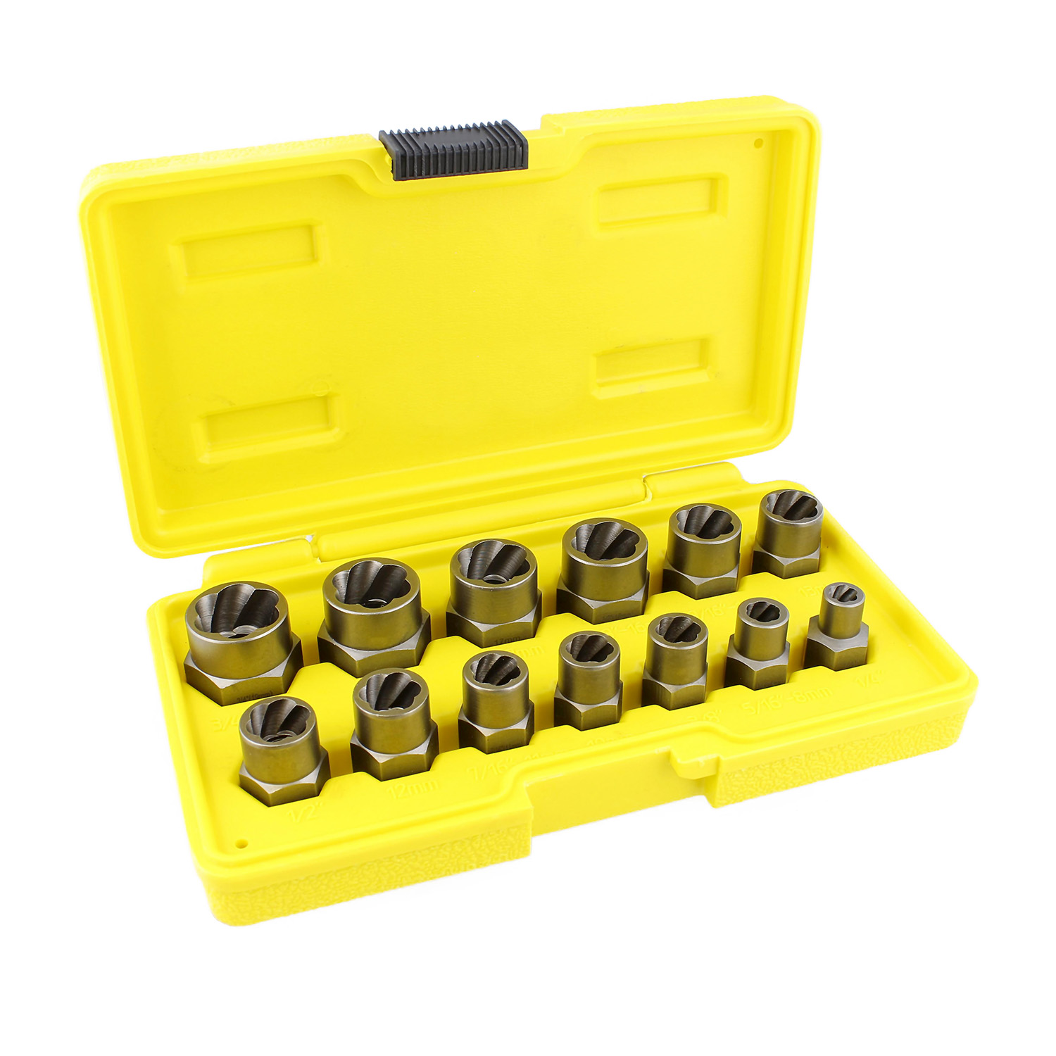 3//8 drive 9 pc twist socket set damaged nut Fastener Removal Set 10 to 19MM