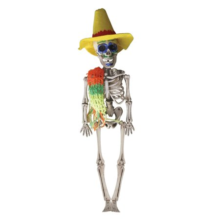 Club Pack of 12 Decorative Day Of The Dead Male Skeleton Hanging Decoration 17