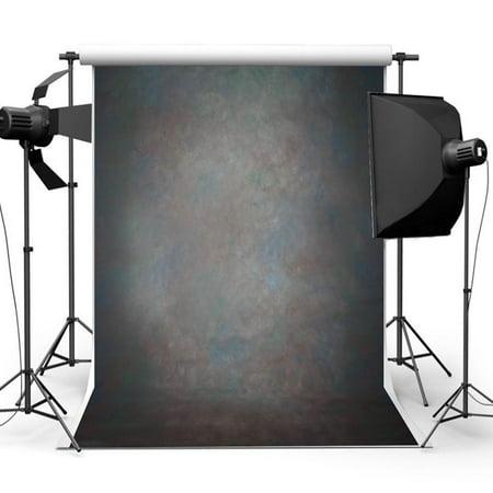 HelloDecor Polyster Photography Background 5x7ft Black Grey Retro Pattern Photography Backdrop Studio