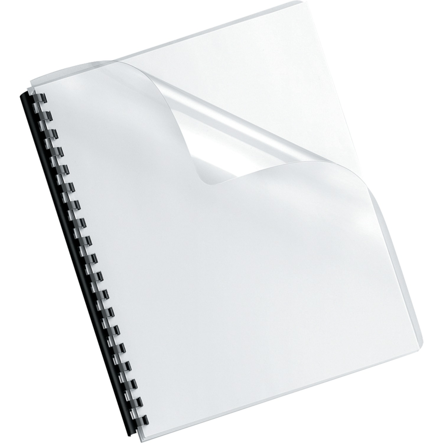 Fellowes 52311 Crystals Transparent PVC Binding Cover, Oversized, 100pk
