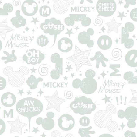 RoomMates Mickey Mouse Icons Peel and Stick Wallpaper