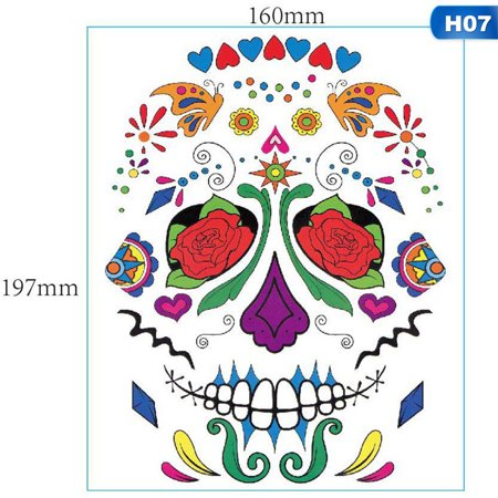 Creative Halloween Arts And Crafts (Fancyleo 2 Pcs Halloween Grimace Waterproof Temporary Tattoo Stickers Creative Stickers Unisex Halloween Face)