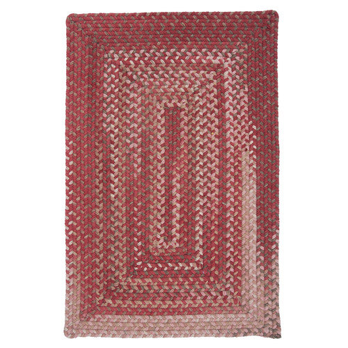 Colonial Mills Gloucester Rhubarb Braided Red Area Rug