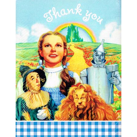 Wizard of Oz Vintage 1997 Thank You Notes w/ Envelopes (8ct) (Wizard Of Oz Invitations)