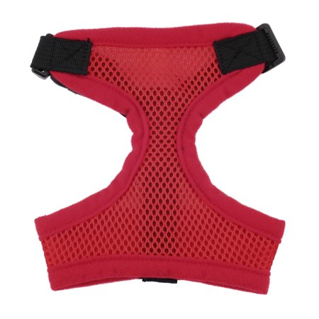 Xl Red Pet Harness Collar Leash Strap Mesh Dog Cat Adjustable Vest Breathable Puppy