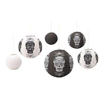 Black and White Skeleton Lanterns | Halloween Decoration