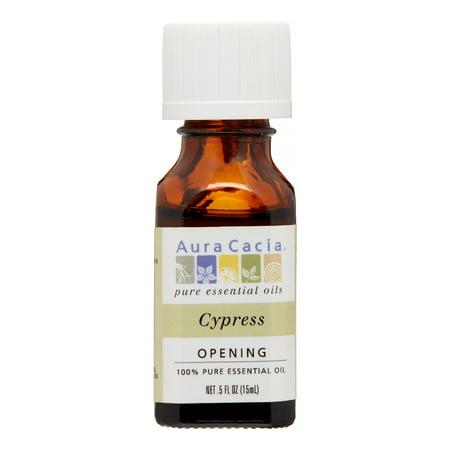 Aura Cacia 100% Pure Essential Oil, Cypress, 0.5 Oz