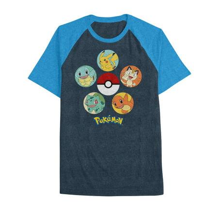 Pokemon Big Boys' Poke Circles Raglan Tee