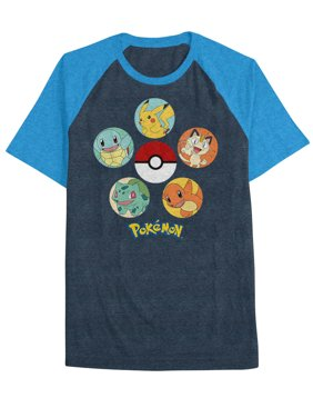 3073f4e3 Product Image Pokemon Big Boys' Poke Circles Raglan Tee