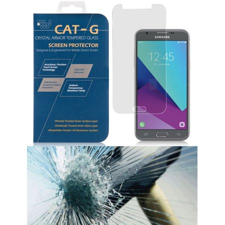 Galaxy J3 Luna Pro Screen Protector, New Tempered Glass [Scratch Guard Crack Saver] for Samsung Galaxy J3 Luna Pro (S327), Express Prime-2 (J327A)](Funny Halloween Screensaver)