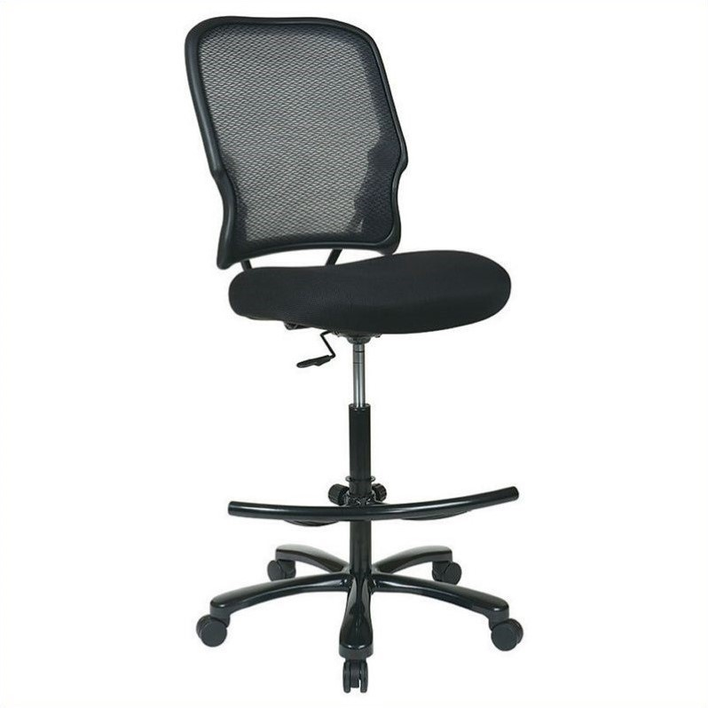 Office Star Big Mans Dark AirGrid Back with Black Mesh Seat by Office Star Products