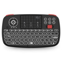 (2019 Upgrade) Rii i4 Mini Bluetooth Keyboard with Touchpad, Blacklit Portable Wireless Keyboard with 2.4G USB Dongle for Smartphones, PC, Tablet, Laptop TV Box iOS Android Windows Mac