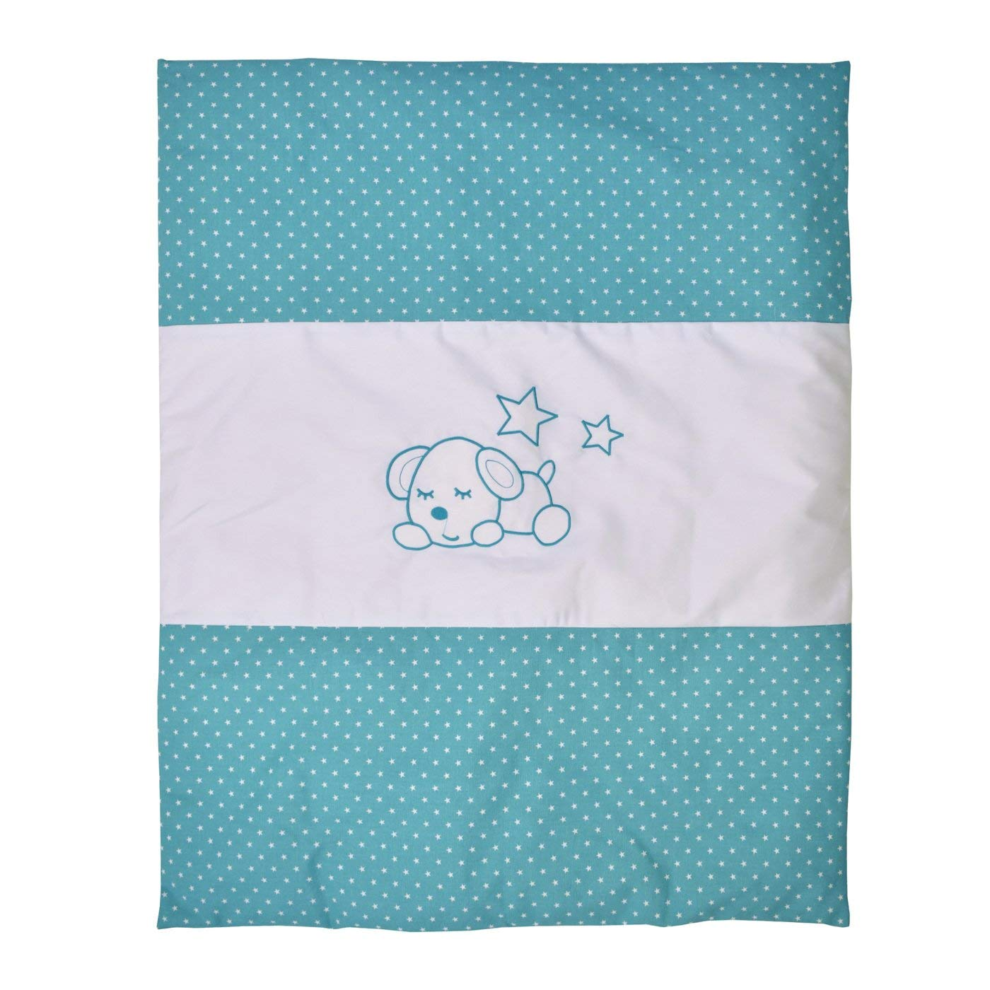 Bebelelo - 5 pieces bedding for baby - turquoise and white with a Sleeping Dog pattern - image 8 of 9