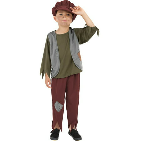 Childs Boy's Victorian Era Poor English Peasant Orphan Boy Costume Medium 7-9](Italian Peasant Costume)