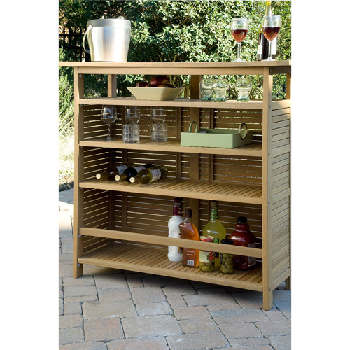 Delicieux Home Styles Bali Hai Outdoor Bar Cabinet, Natural Teak