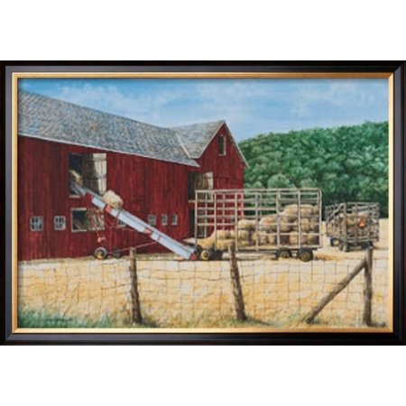 Hay Day Framed Art Print Wall Art  By Dan Campanelli - 29.5x29.5
