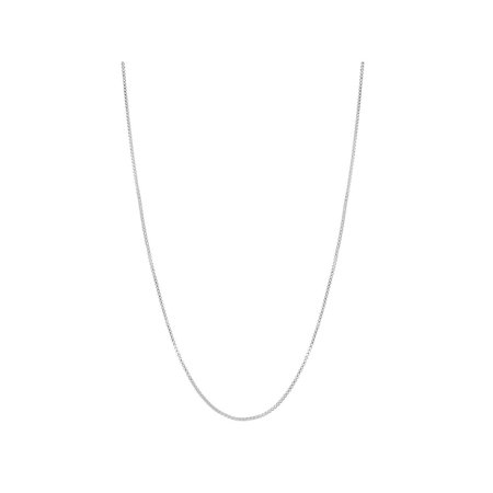 Silver Plated Classic Box Link Chain Necklace Mesh Thin Women