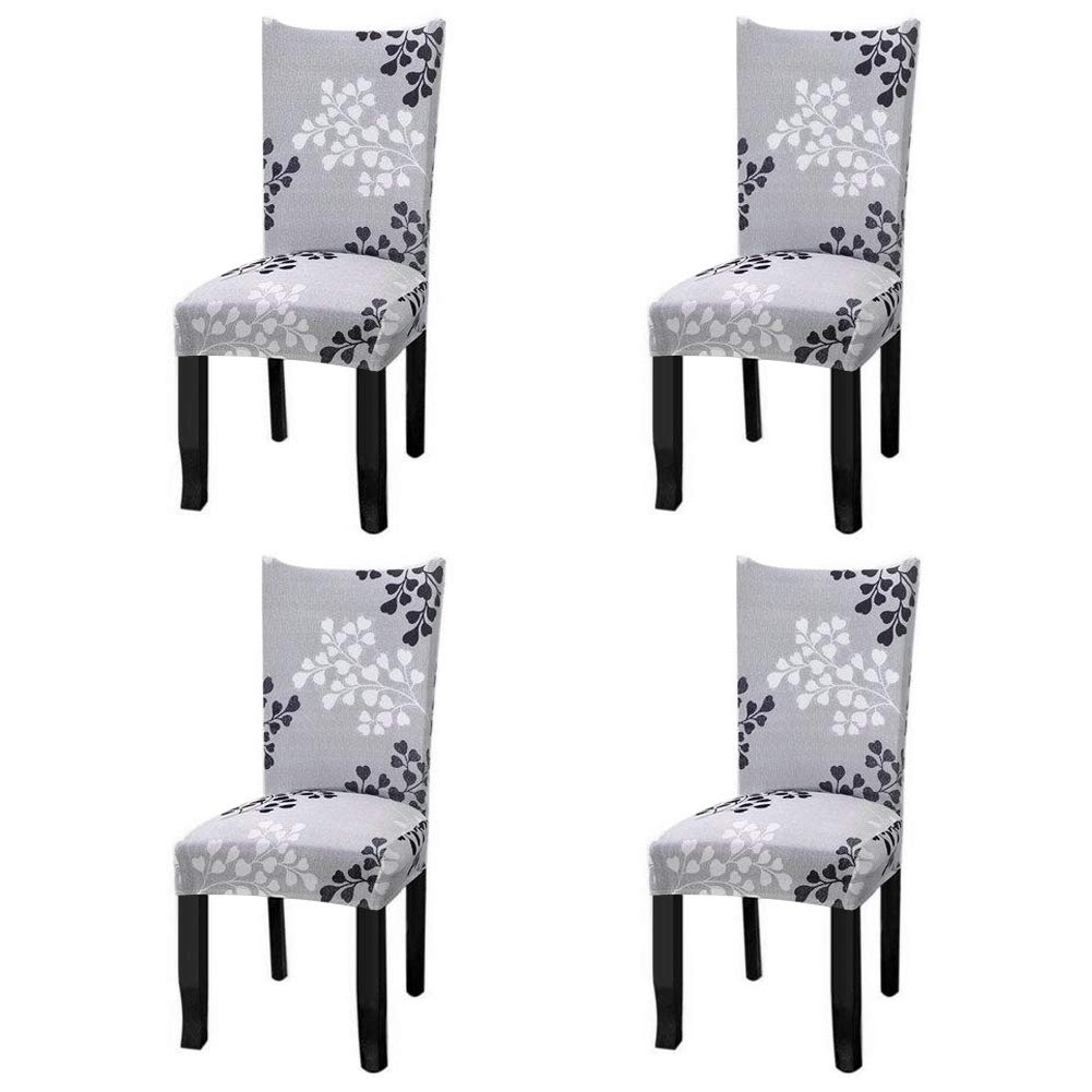 Christmas Chair Protector Cover Stretch Removable Washable Chair Seat Protector Cover Christmas Seat Slipcover for Home Hotel Dining Room Banquet Wedding Party Bell Style, 2