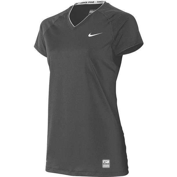 Nike Women's Dri-Fit Team Pro Fitted V-Neck Shirt