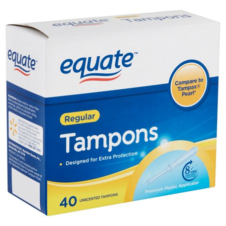 Equate Unscented Tampons, Regular, 40 count