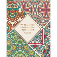 2020-2021 Monthly Planner: 2 Year Monthly Planner 2020-2021: Monthly Schedule Organizer, Agenda Planner For The Next two Years, 24 Months Calendar, Appointment Notebook with art mandala cover (Paperba