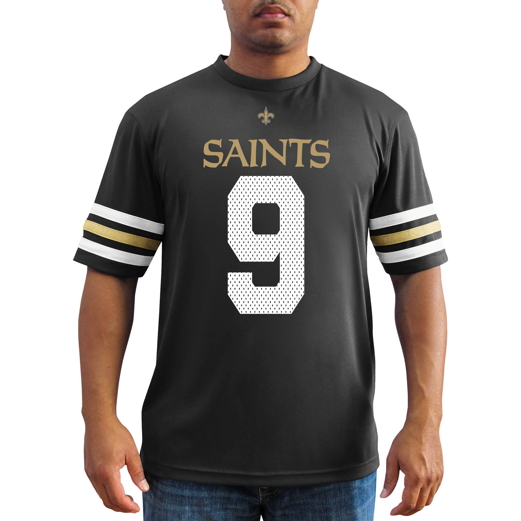 NFL Men's New Orleans Saints Brees Synthetic Fashion Tee