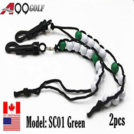 (Sc01 A99 Golf Beads Green Stroke Shot Score Counter Keeper with Clip Club 2pcs)