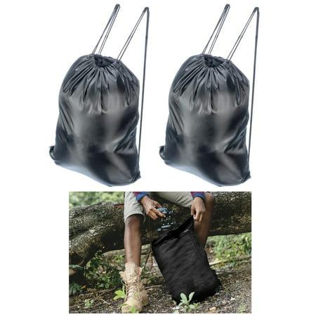 2 Waterproof Drawstring Backpack Cinch Sack String Bag Gym Tote School Sports