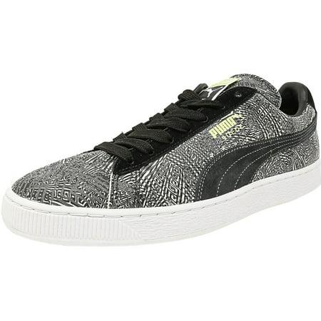 Dark Shadow Footwear - Puma Men's Mis-Match Suede Dark Shadow / Black White Ankle-High Fashion Sneaker - 9M