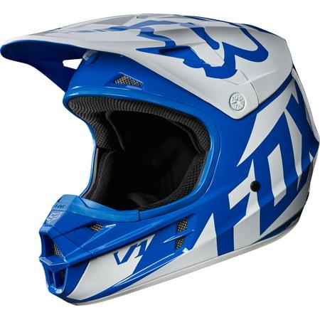 Fox V1 Race Helmet (2017) (Blue, X-Small)