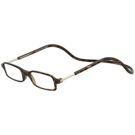 7e9aa26212 Clic Reader Eyeglasses Tortoise Full Rim Magnetic Reading Glasses -  Walmart.com